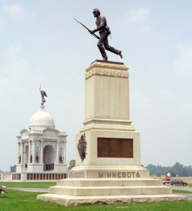 Figure 1: Monument to the First Minnesota at Gettysburg.