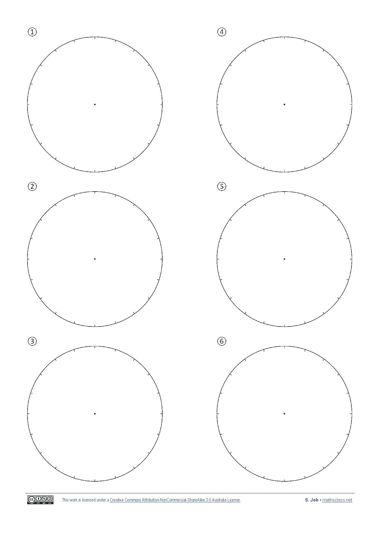 Blank Pie Charts