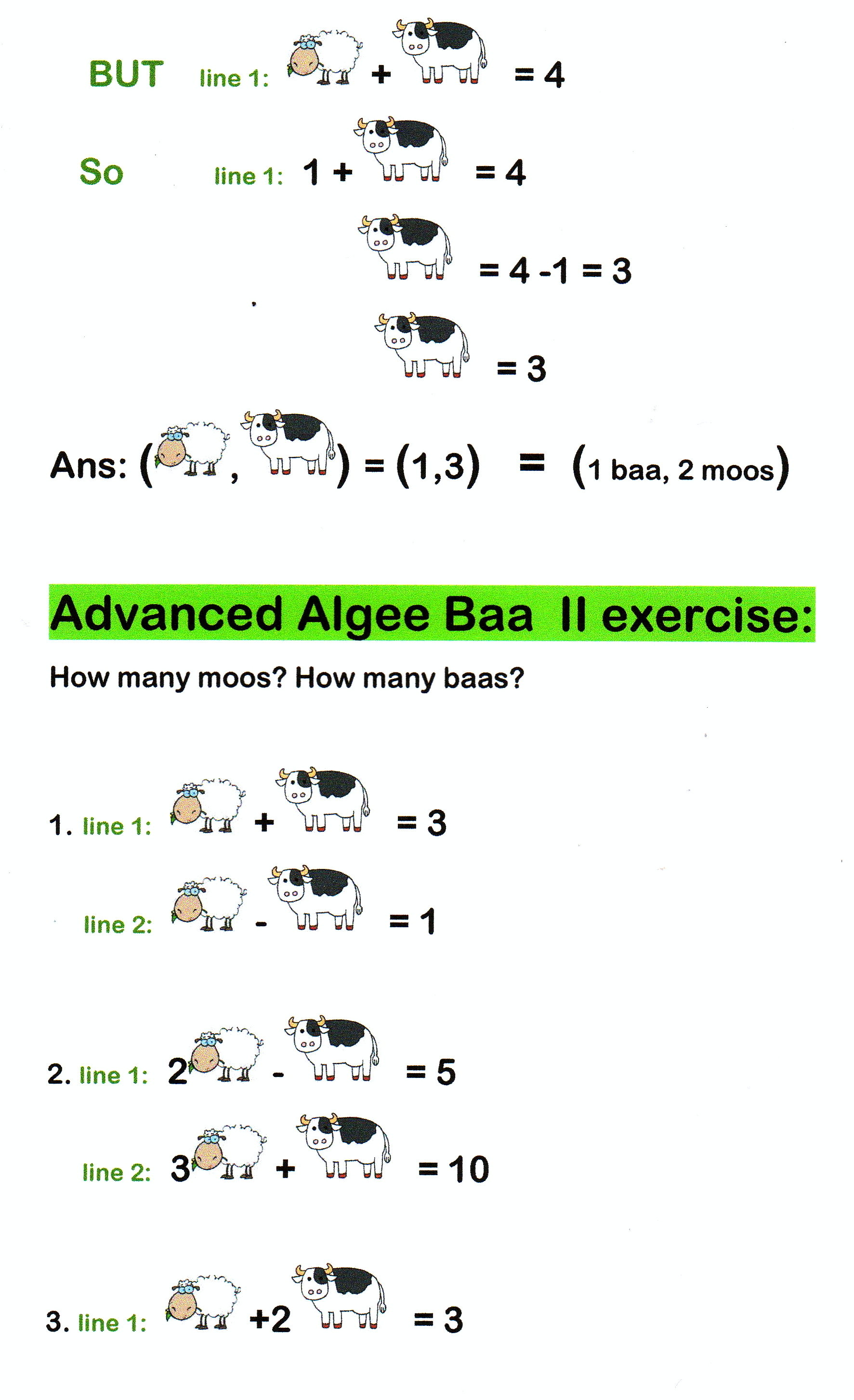 Funny Simultaneous Equations