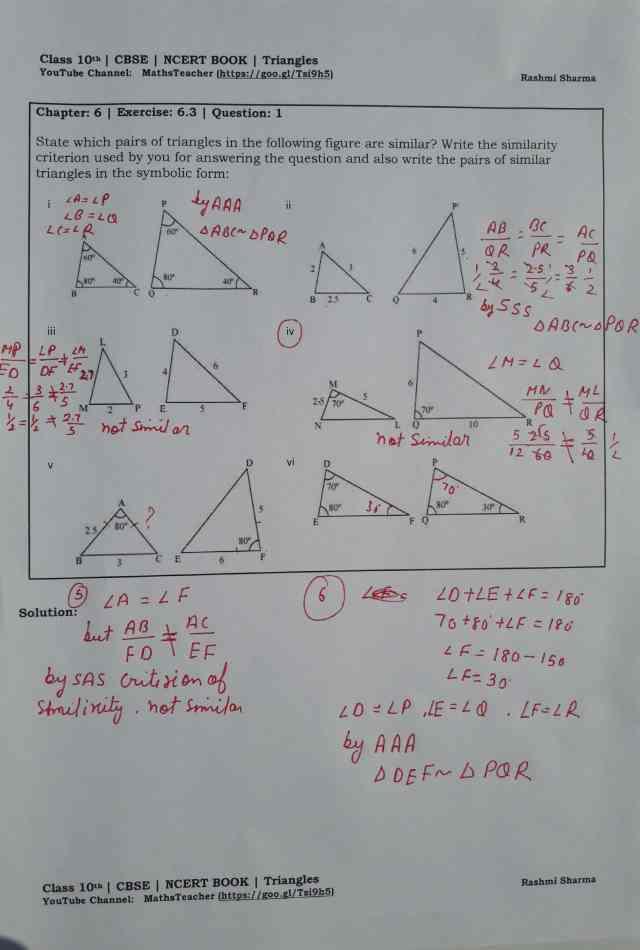 class 10 chapter-6 ex 6.3 Q-1