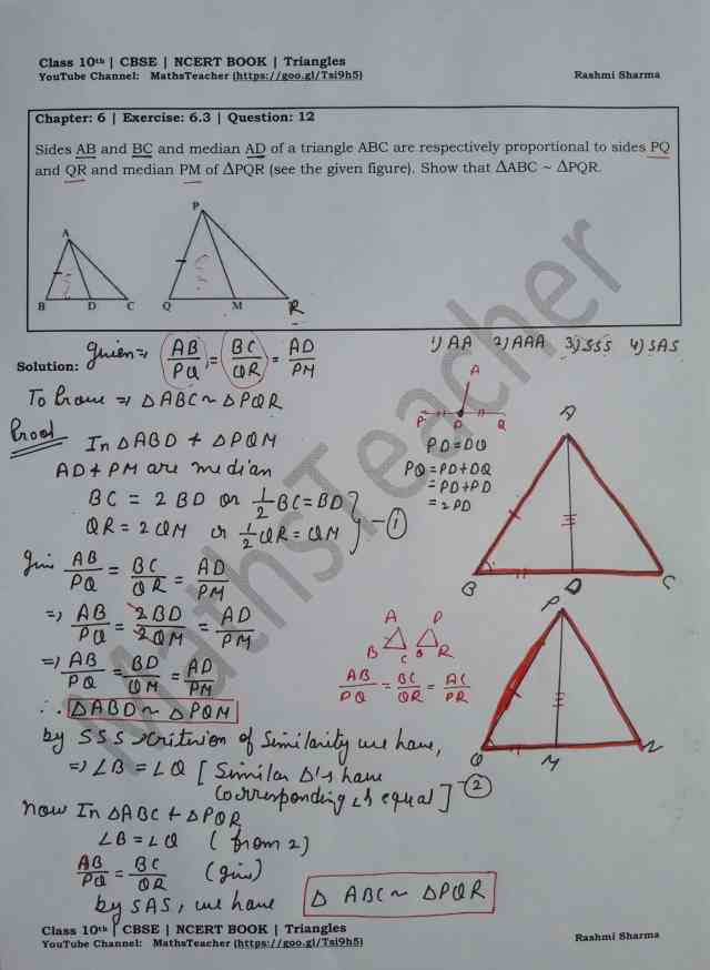 class 10 chapter-6 ex 6.3 Q-12