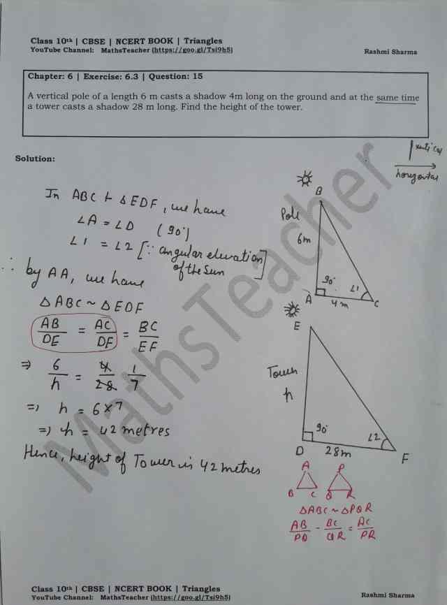 class 10 chapter-6 ex 6.3 Q-15