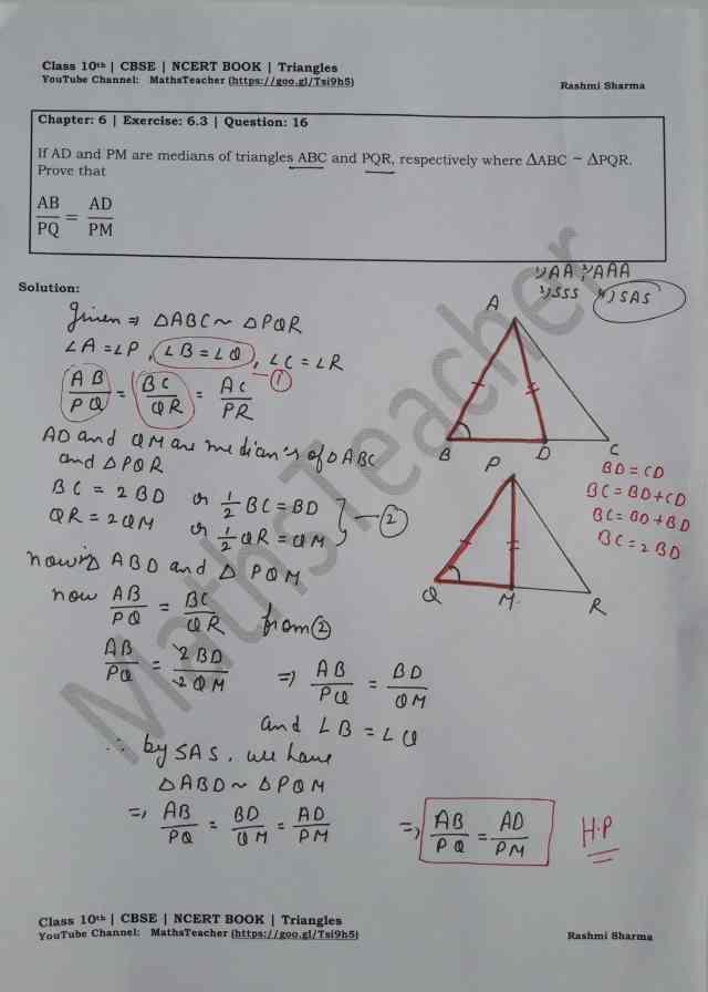 class 10 chapter-6 ex 6.3 Q-16