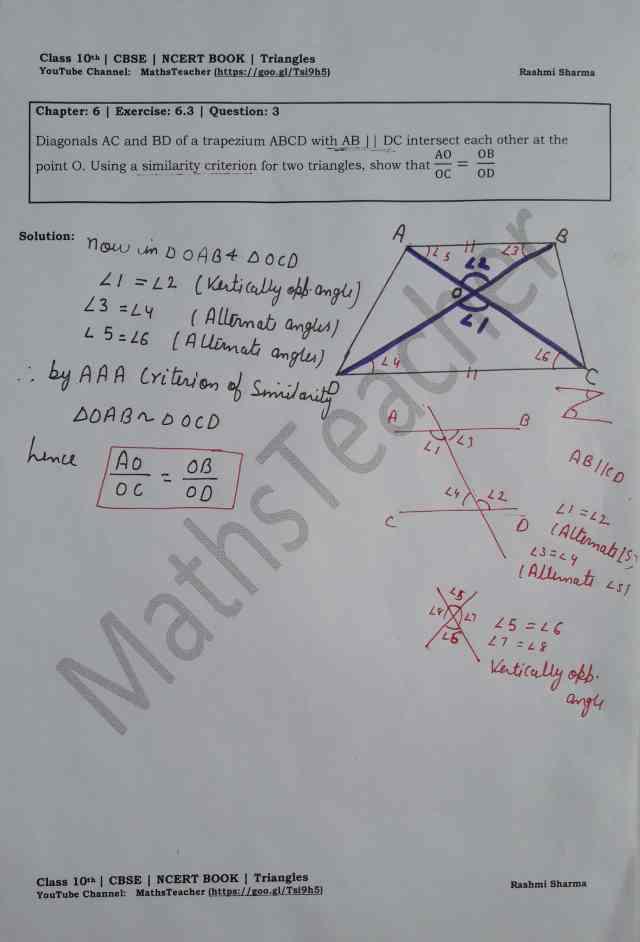 class 10 chapter-6 ex 6.3 Q-3