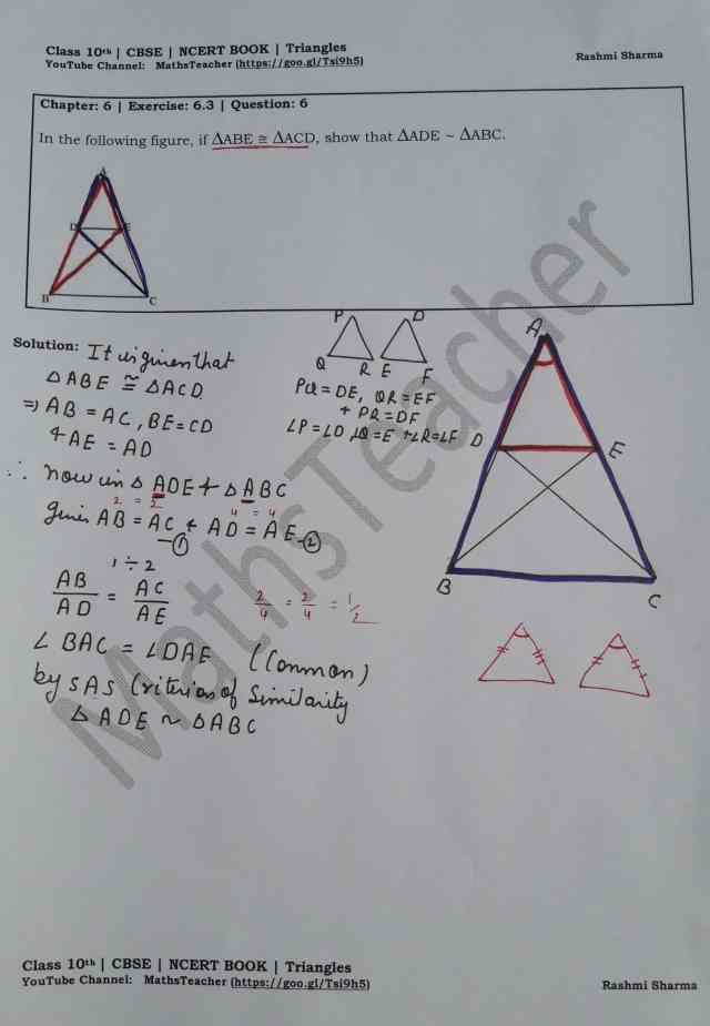 class 10 chapter-6 ex 6.3 Q-6