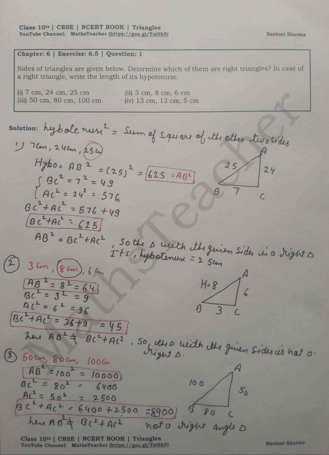 class 10 chapter-6 ex 6.5 Q-1