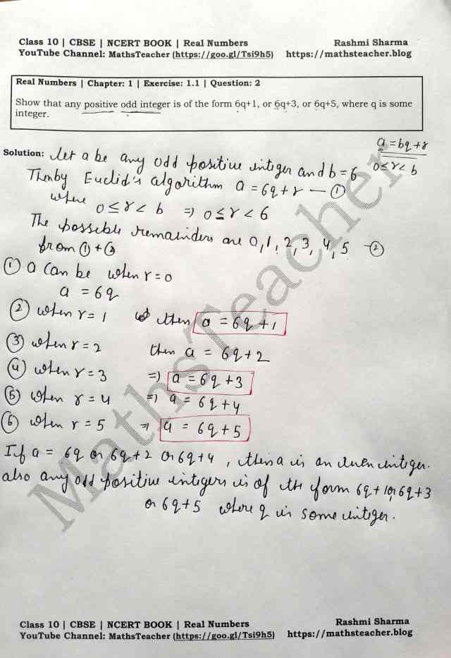 Class 10 Maths Real Numbers Exercise  1.1 Question 2