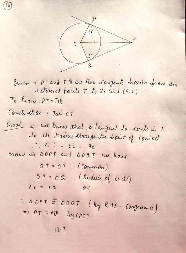 Class 10 Maths Exam Paper Section-C (Q18)