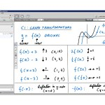An example of online maths tuition for C1 Core Maths. The topic is graph transformations.