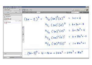 An example of online maths tuition for C2 Core Maths. The topic is binomial expansion.