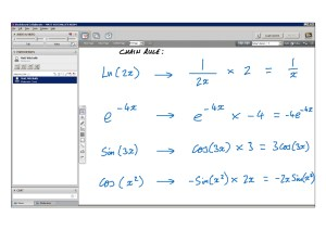 An example of online maths tuition for C3 Core Maths. The topic is the chain rule for differentiation.