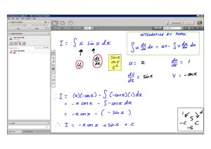An example of online maths tuition for C4 Core Maths. The topic is integration by parts.