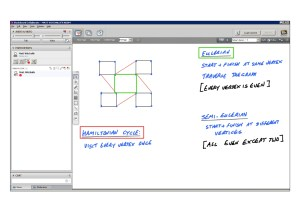 An example of online maths tuition for D1 Decision. The topic is graph theory.