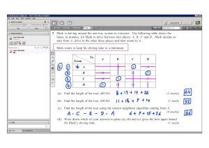 An example of online maths tuition for D1 Decision. The topic is the nearest neighbour algorithm.
