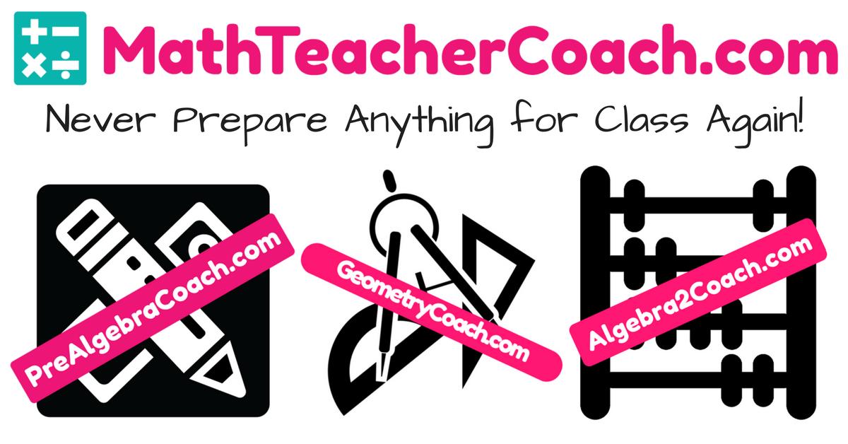 Pre-Algebra - Geometry - Algebra 2