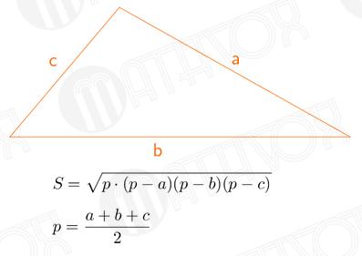 МАТВОКС ⋆ Как найти площадь треугольника по сторонам ...