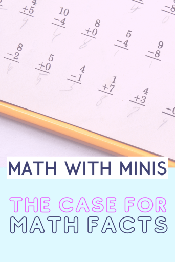 Students Need to Memotize Their Math Facts Blog Post Pinterest Pin Image for Math With Minis