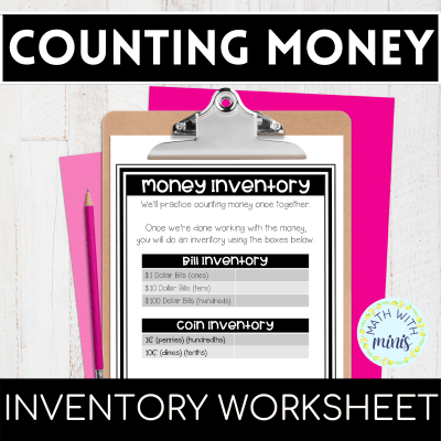 Place Value Worksheet and Money Counting Worksheet