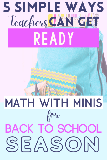 5 Simple Ways for Teachers to Get Ready for the Back to School Season Pinterest Pin