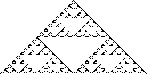 Sierpinski sieve from rule 90
