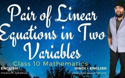 Ch03. Pair of Linear Equations in Two Variables – 90D