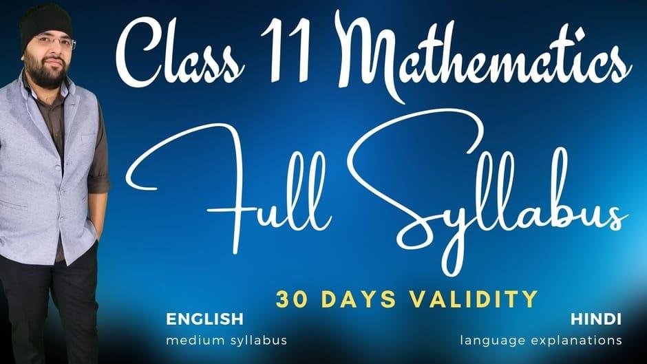 Class 11 Maths 30 Days Membership 940px