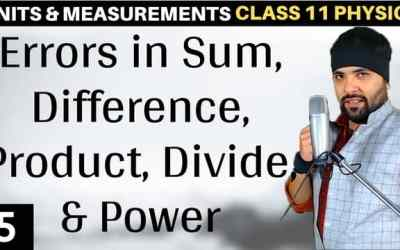 L5 – Example 2.8 – Errors in sum, difference, product, divide and power