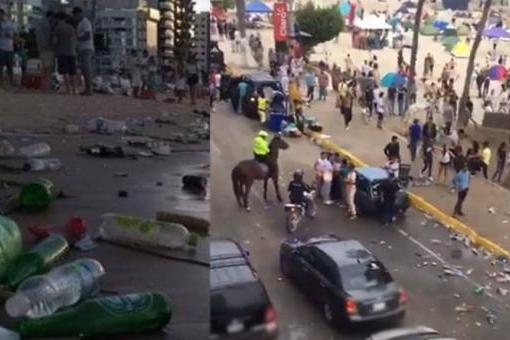 Imágenes de playas llenas de basura en Salinas e incidentes con policías generan indignación a inicios del 2020
