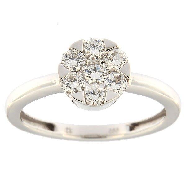 Kullast sõrmus teemantidega 0,48 ct. Kood: 109an