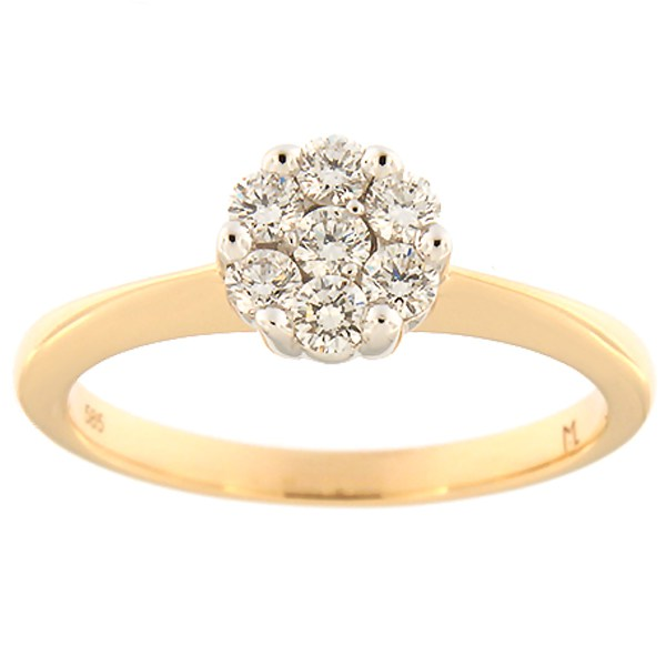 Gold ring with diamonds 0,34 ct. Code: 119ak