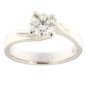 Gold ring with diamonds 0,76 ct. Code: 11b