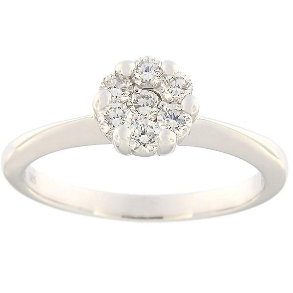 Kullast sõrmus teemantidega 0,43 ct. Kood: 122ak