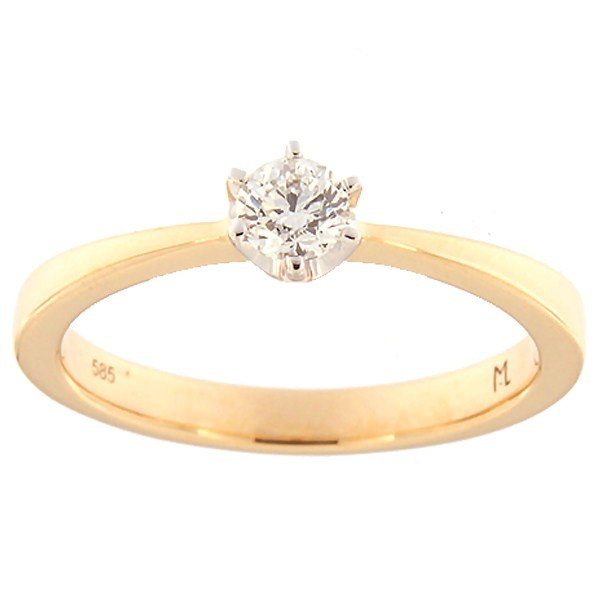 Gold ring with diamond 0,23 ct. Code: 126ak