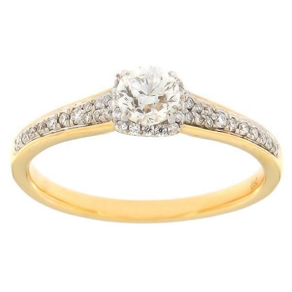 Kullast sõrmus teemantidega 0,52 ct. Kood: 130af