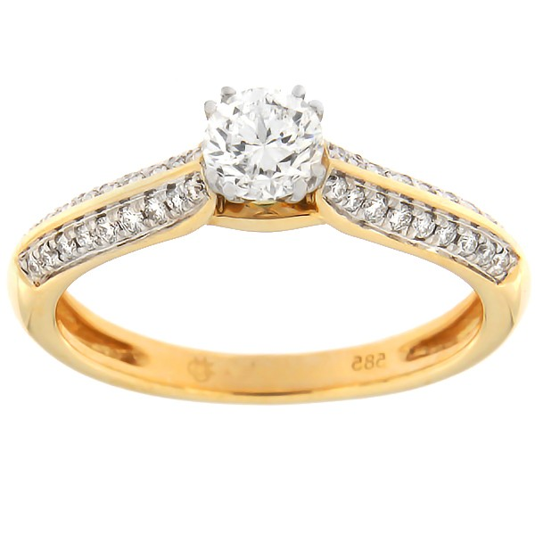 Gold ring with diamonds 0,55 ct. Code: 136af