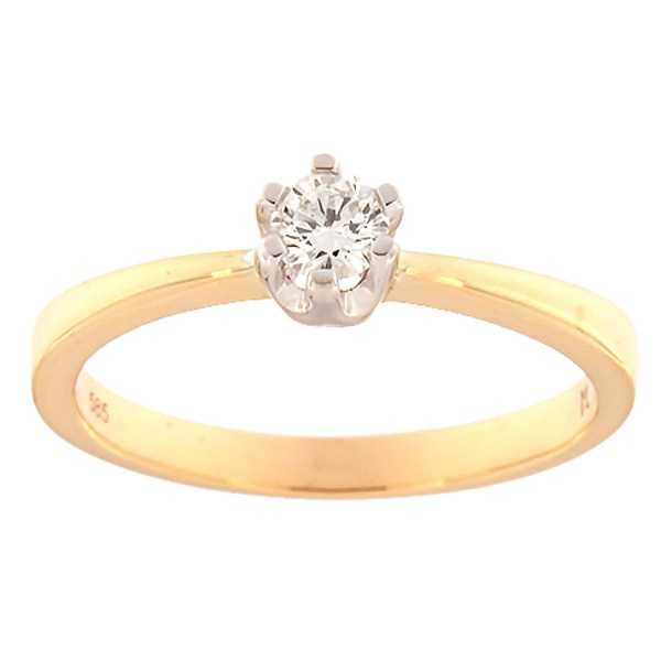 Gold ring with diamond 0,20 ct. Code: 145ak