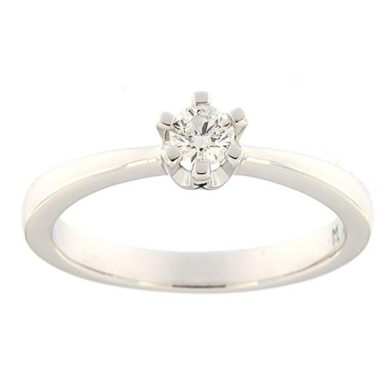 dbcce388296 Esileht / Ehted / Kihlasõrmused / Kullast sõrmus teemantiga 0,18 ct. Kood:  146ak