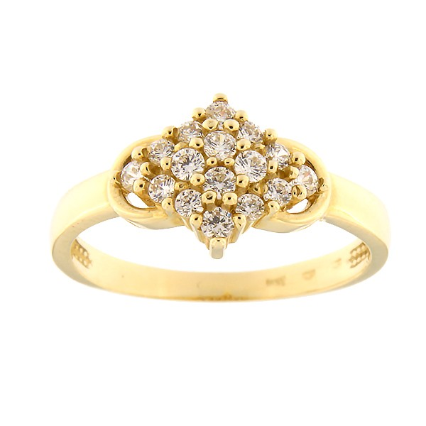 Gold ring with zircons Code: 16pa