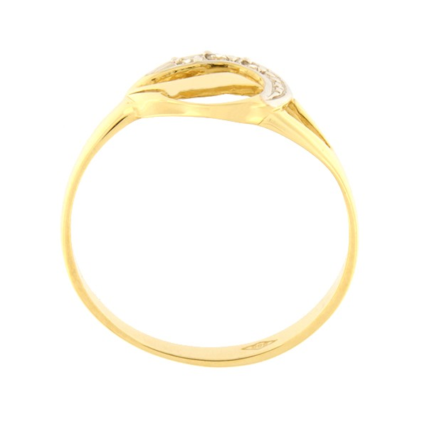 Kullast sõrmus tsirkoonidega Kood: 183pm-1