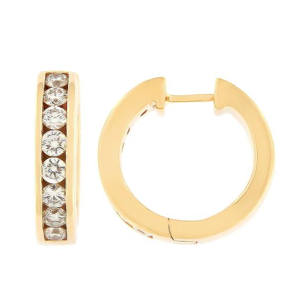 Золотые серьги с бриллиантами 1,01 ct. Kод: 18ak
