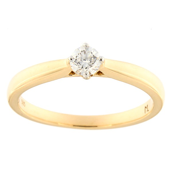 Gold ring with diamond 0,24 ct. Code: 197ak