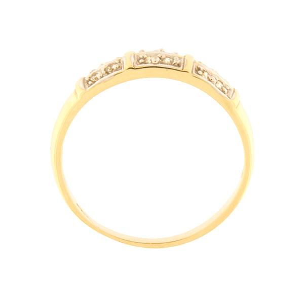 Kullast sõrmus tsirkoonidega Kood: 1pa-1
