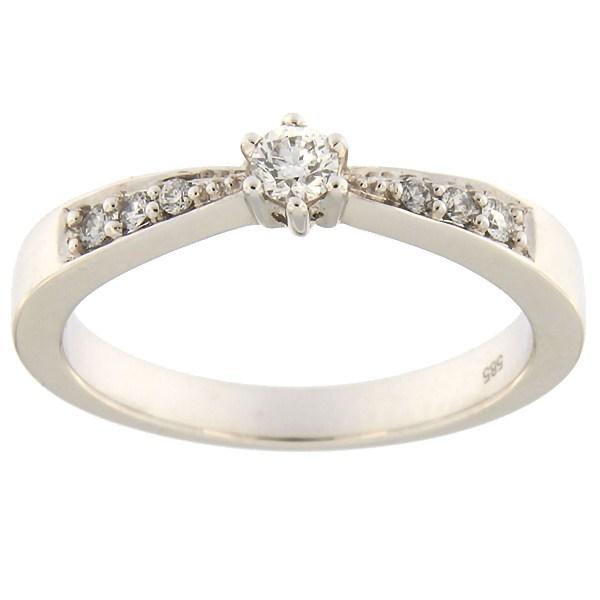Kullast sõrmus teemantidega 0,20 ct. Kood: 30ae