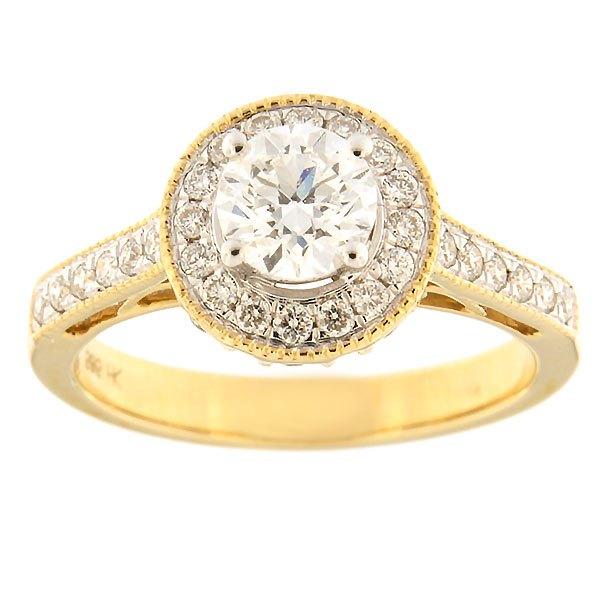 Kullast sõrmus teemanditega 1,00 ct. Kood: 33ha-rb4716