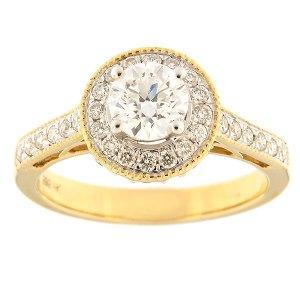 Золотое кольцо с бриллиантами 1,00 ct. Kood: 33ha-rb4716