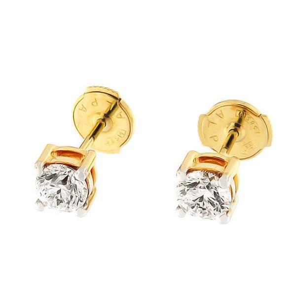 Золотые серьги с бриллиантами 1,01 ct. Kод: 35af