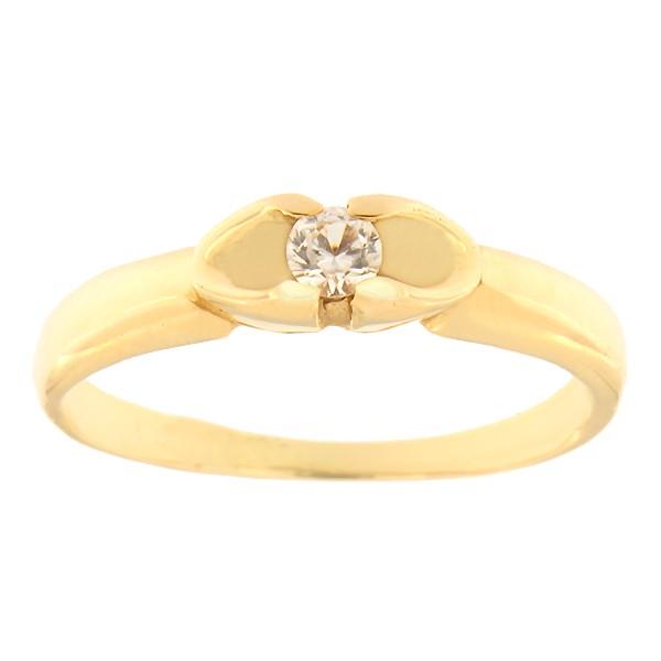 Kullast sõrmus tsirkooniga Kood: 425p