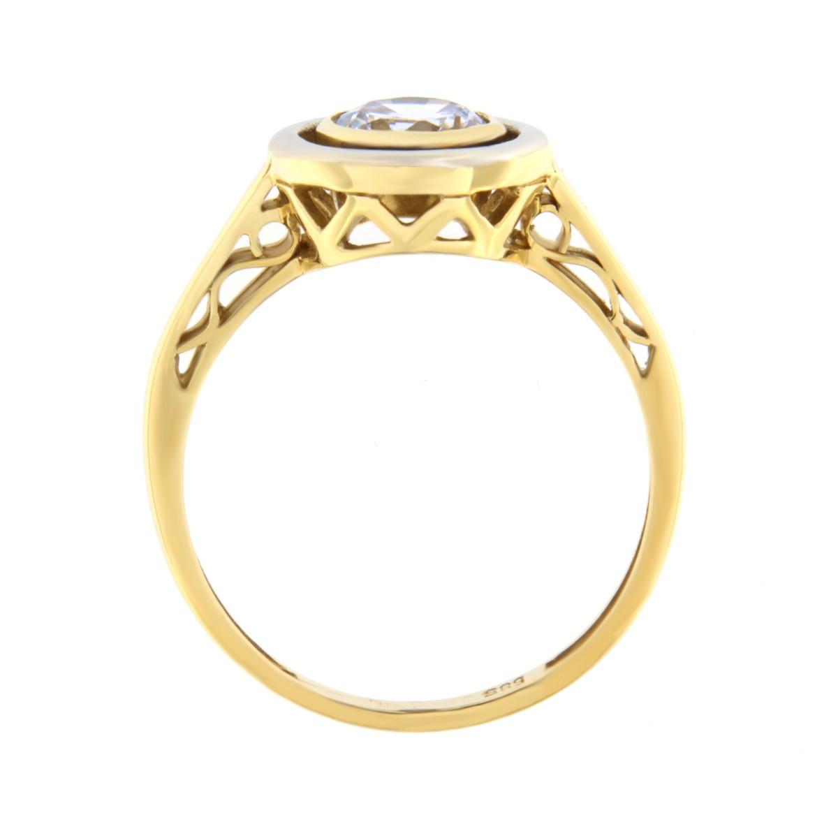 Kullast sõrmus tsirkooniga Kood: 455wp489 külg