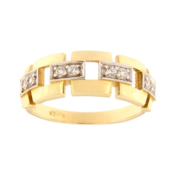 Gold ring with zircons Code: 47pm