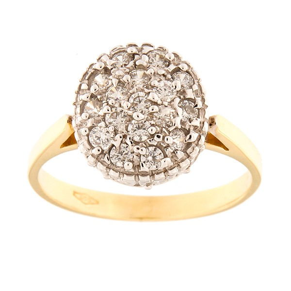 Gold ring with zircons Code: 4pa